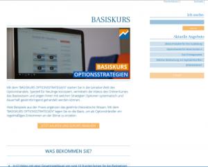 Basiskurs Optionsstrategien