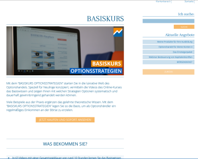 Basiskurs Optionsstrategien