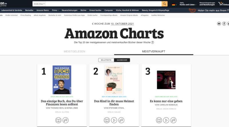 Ein neuer Amazon-Bücher-Star der Woche